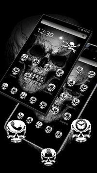 Black Death Skull Theme captura de pantalla 1