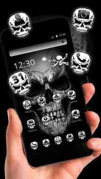 Black Death Skull Theme captura de pantalla 2