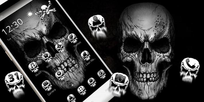 Black Death Skull Theme captura de pantalla 3