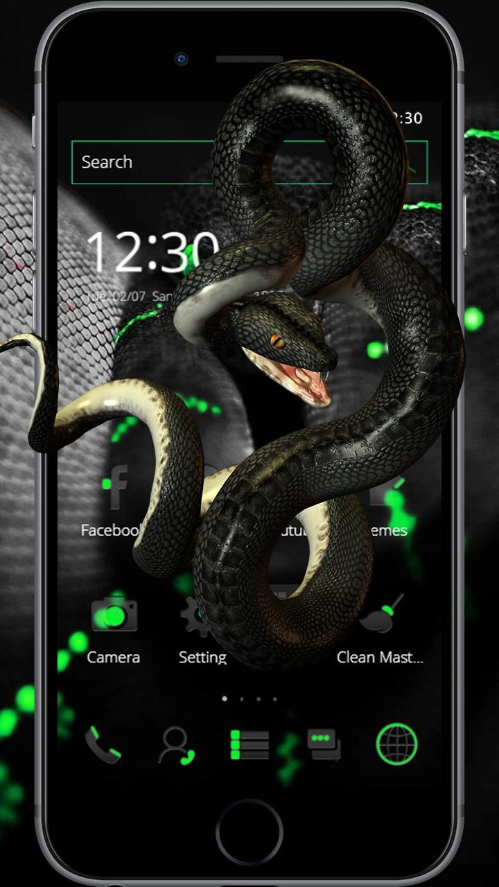 Black Green Snake Tech Theme for Android - APK Download