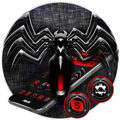 Red Black Spider Theme icon