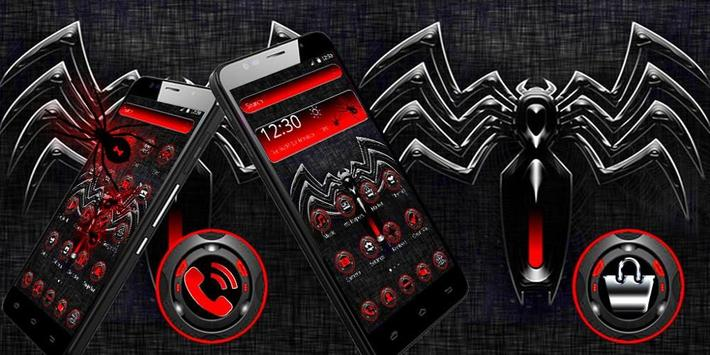 Red Black Spider Theme screenshot 3