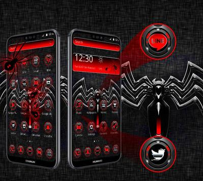Red Black Spider Theme screenshot 1