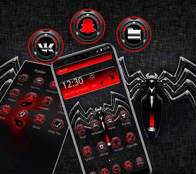 Red Black Spider Theme screenshot 2