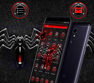 Red Black Spider Theme screenshot 4