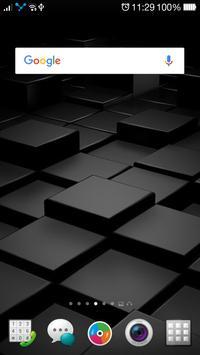Black Wallpaper QHD Lock Screen poster