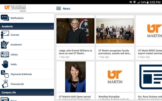 UT Martin apk screenshot