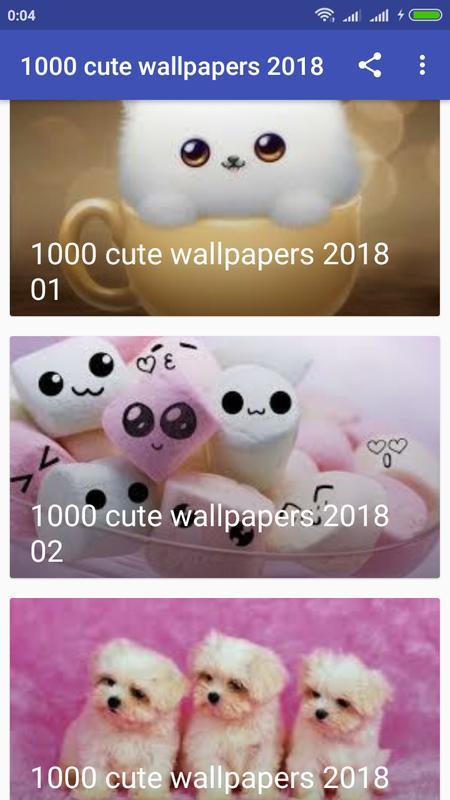 1000 Cute Wallpapers 2018 Screenshot 3
