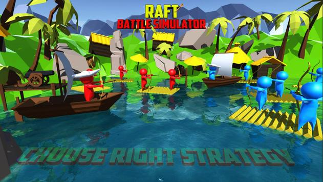 Raft Battle Simulator apk screenshot