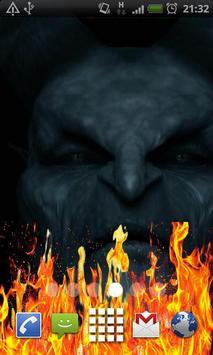 Black Demon Fire Flames LWP poster