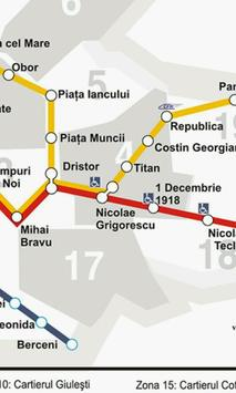 Harta Metrou Bucuresti poster