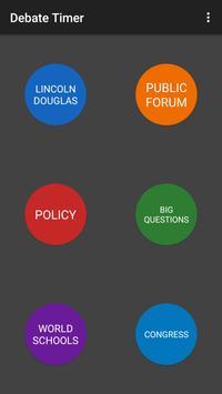 NSDA Debate Timer plakat