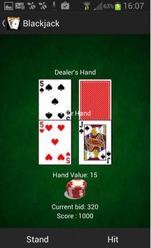 Blackjack 21 - Kartenspielen poster