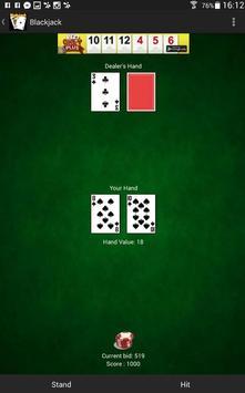 Blackjack 21 - Kartenspielen apk screenshot