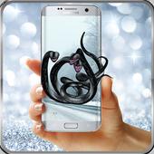 Black snakes on phone (Prank) icon