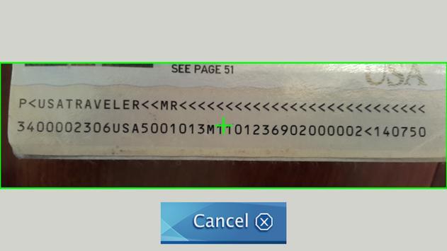 Xavier MRZ Scanner apk screenshot