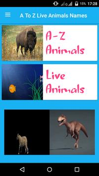 AtoZ Animal Name  - Kids Learning App poster