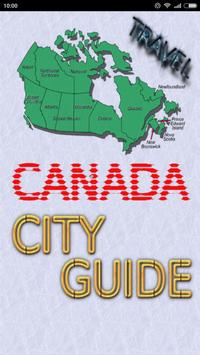 Canada Travel City Guide poster