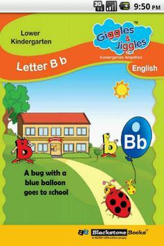 Letter B for LKG Kids Practice poster