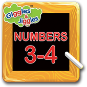 Numbers 3-4 for LKG Kids icon
