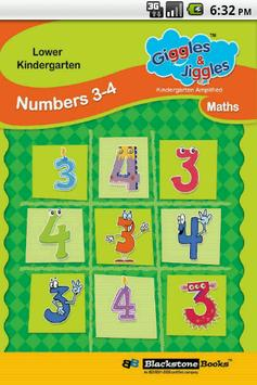 Numbers 3-4 for LKG Kids poster