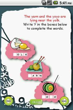 Letter Y for LKG Kids Practice apk screenshot