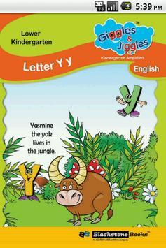 Letter Y for LKG Kids Practice poster