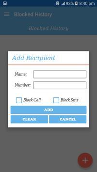 Call Blocker Sms Blocker apk screenshot