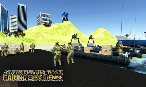 Army cargo boat simulator poster