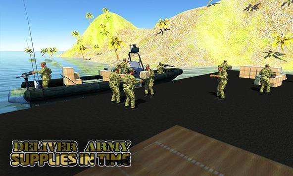 Army cargo boat simulator apk screenshot