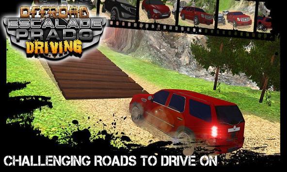 Offroad Escalade Prado Driving poster