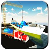 Oil Tanker Transporter Ship icon