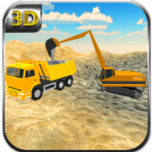 Sand Transporter Truck Driving icon