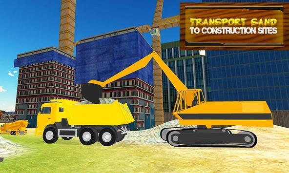 Sand Transporter Truck Driving poster