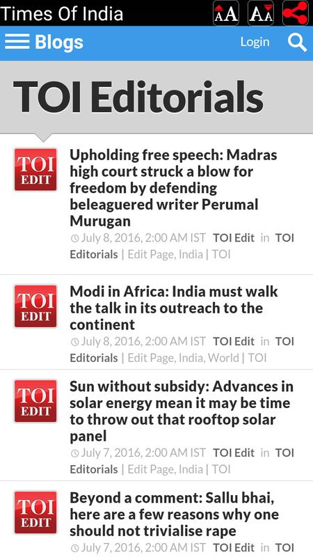 editorial articles of times of india