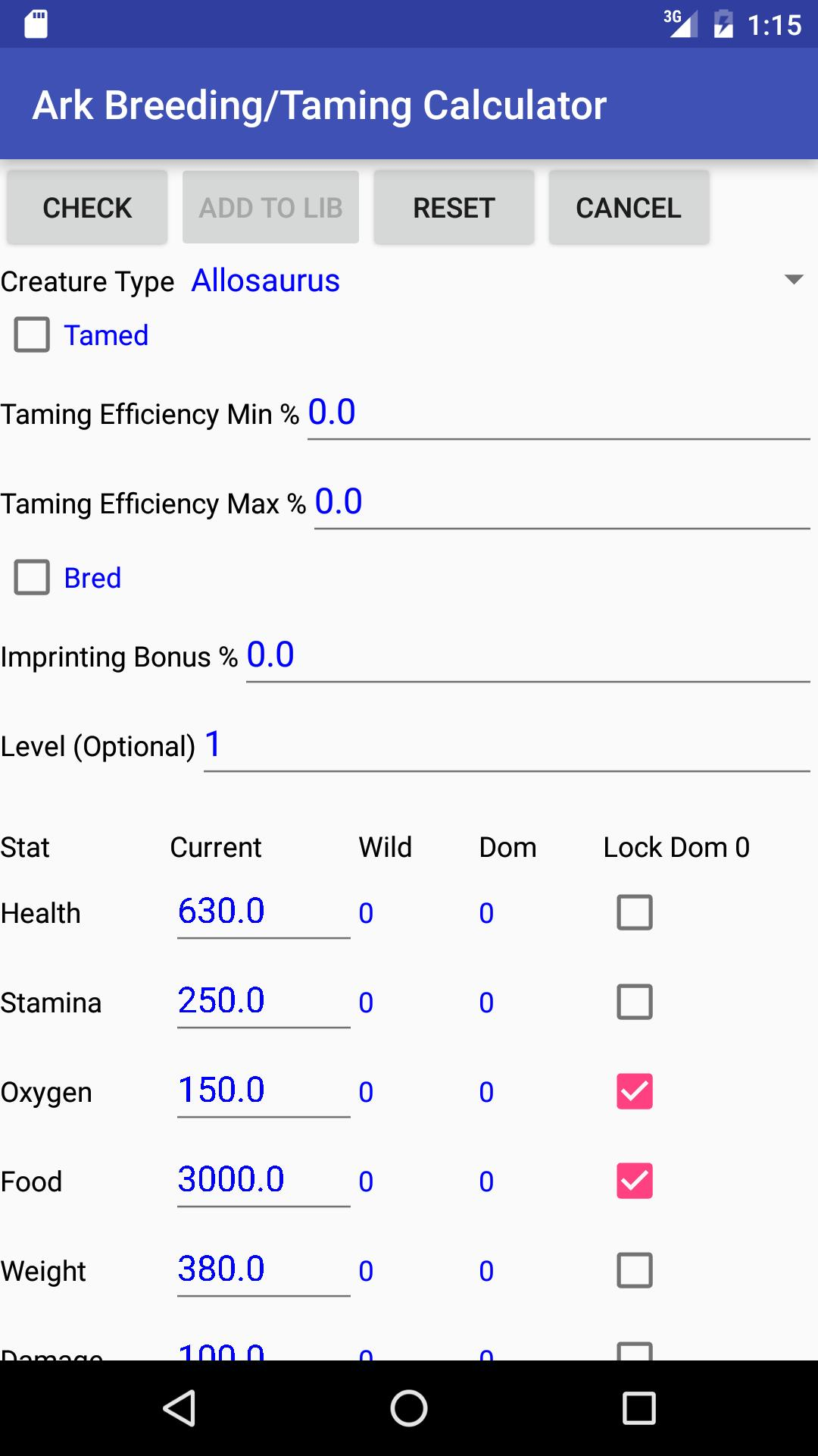 Breeding/Taming Calculator: Ark Suvivial Evolved for Android - APK