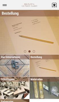 Bronzen-Gunkel Schriften poster