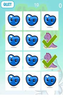 Dinosaur Matching Memory Game スクリーンショット 1