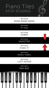 KPOP BIGBANG - Piano Tap Free poster