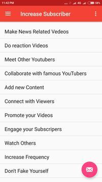 Increase Subscriber screenshot 2