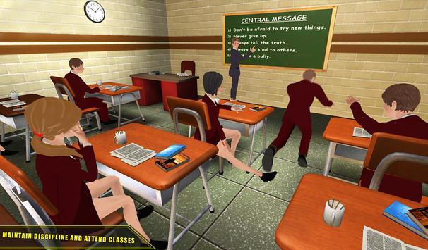 High School Girl Simulator 2018 Happy Family Games screenshot 8