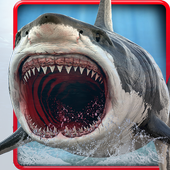 Underwater White Shark Simulator 3D icon