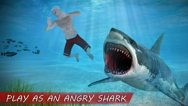 Underwater White Shark Simulator 3D poster