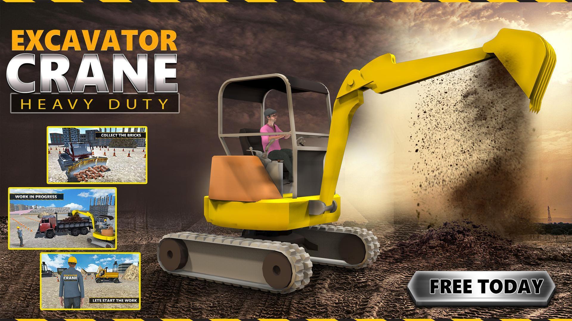 Excavator Crane: Heavy Duty Construction Simulator for