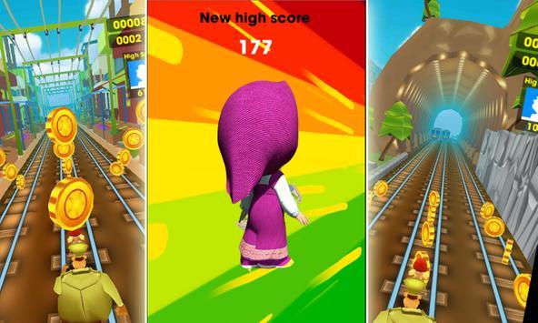Subway Masha Surf Run screenshot 1