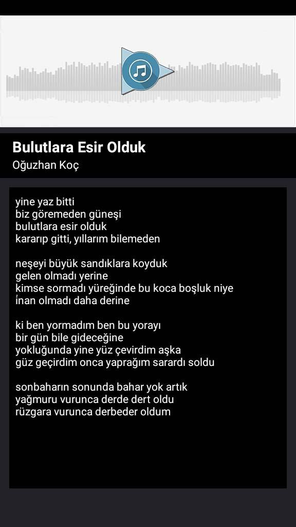 Android Icin Oguzhan Koc Beni Iyi Saniyorlar Song And Lyric Apk Yi Indir