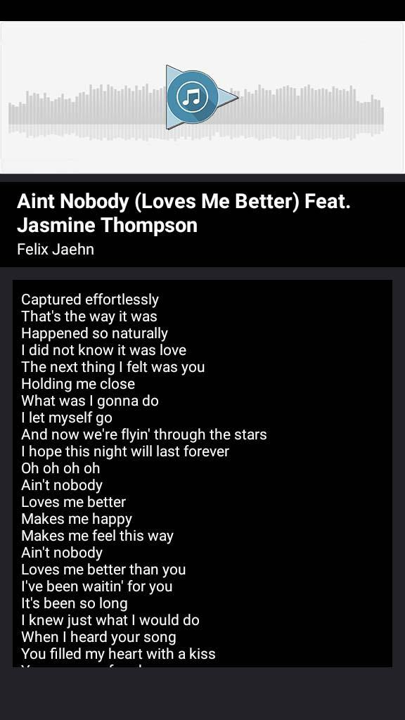 Felix Jaehn Ain T Nobody Songs And Lyrics For Android Apk Download Nobody gucci mane on wn network delivers the latest videos and editable pages for news & events, including entertainment, music, sports, science and the return of mr. felix jaehn ain t nobody songs and