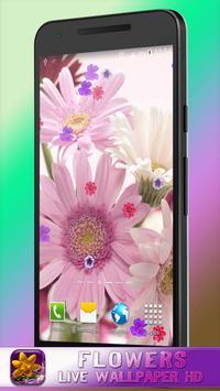 Flowers Live Wallpaper HD poster