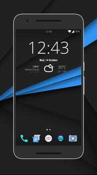 CleanUI Blue CM12.1/COS Theme poster