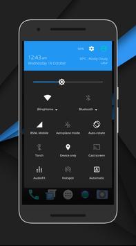 CleanUI Blue CM12.1/COS Theme apk screenshot